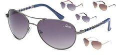 Giselle Eyewear Two Tone Aviator Women Retro Classic Hipster Metal Sunglasses  #Giselle #Aviator