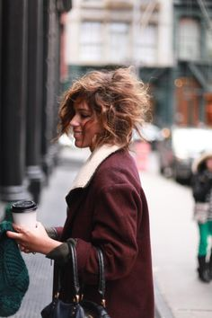 i want this hair! i wonder if its possible or if my hair is too curly and I will look like an old lady...