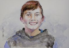 Acoustic Drawings The Shinji Ogata Gallery: A Boy with a Lovely Smile いい笑顔の少年