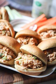 Barbecue Ranch Chicken Salad Sliders || Aggie's Kitchen
