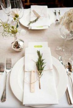 ☆ White Christmas Wonderland ☆ Christmas dinner placesetting