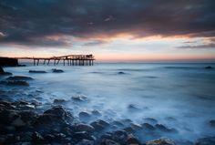 old pier, mystic water