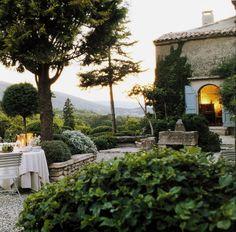 Le jardin de la Louve, Bonnieux, Provence you can Design your Landscape to maximize your living space... view is another set of $$'s  wp.me/p2ieQC-3x   www.ChristinaKhandan.com - Christina Khandan