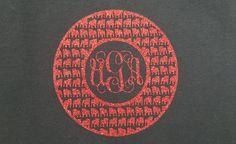 UGA Glitter Monogram Iron On, University of Georgia Shirt Decal, Vinyl Glitter…