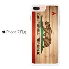 California Republic State Flag Woden Iphone 7 Plus Case
