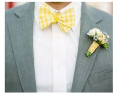 Gingham Yellow Wedding Bow Tie...aww cute for the kids...but prob hard to find.