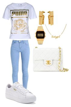 """43"" by manii13k on Polyvore featuring Moschino, Puma, Chanel and Casio"