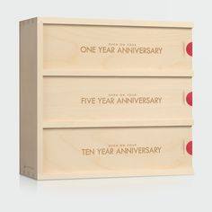 The Classic Trio Anniversary Wine Box is a unique wedding gift that couples will enjoy on three future anniversaries. Unique Wedding / Anniversary gift. Wedding ceremony wine box idea. Personalized gift for the bride and groom. #weddingwinebox