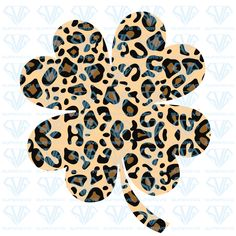 Download Leopard Pattern Lucky Clover SVG-Shamrock SVG-Clover ...