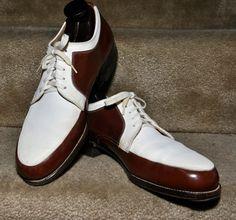 1940s Knapp Suede/Calf Leather Spadish Sole Spectators Mens Dress Shoes 8.5  9. $329.00, via Etsy.