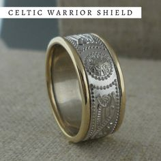 Wedding Ring with Barbed Wire Design Lashbrook Designs Wedding