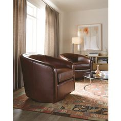 Motorcity Leather Swivel Chair-- Maybe for Family Room ...