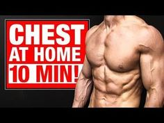 Chest Workout For Mass, Dumbbell Workout At Home, Chest Workout At Home, Chest Workout Routine, Gym Workout Videos, Chest Workouts, Easy Workouts, At Home Workouts, Chest Exercises