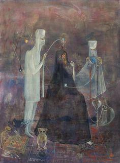 Operation Wednesday by Leonora Carrington, 1969. Tempera on masonite, 60.5 x 44.7 cm.