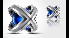 3D Logo Design   Adobe Illustrator CC   Tutorial   HD   X3