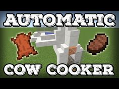 Minecraft Tutorial – Automatic Cow Cooker – Leather Farm – Steak Farm – Comp… - Minecraft World