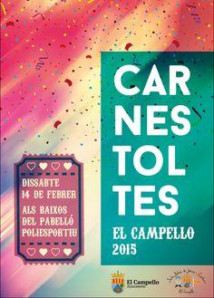 Cartel Carnaval 2015 en El Campello.