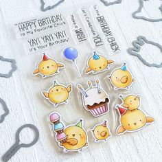 STAMPARADISE: Birthday Chicks Shaker Card - MFT February Release Countdown Day 4