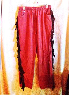 Indian Warrior Pants Size Medium Western Theme Halloween Theatrical Costume #SagHarbor #PantsShorts