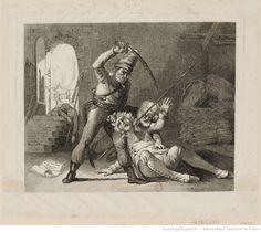 Cosaques pillant et frappant un homme dans une grange : [estampe]   Gallica