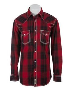 My honey would look good in this! Rafter C Cowboy Collection Men's L/S Western Snap Shirt Cowboy Outfits, Western Outfits, Western Wear, Western Style, Best Dressed Man, Sharp Dressed Man, Country Shirts, Western Shirts, Just Style