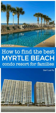 There are so many condo resort rental options in Myrtle Beach and North Myrtle B. - There are so many condo resort rental options in Myrtle Beach and North Myrtle Beach for families. Best Family Beaches, Best Family Vacation Spots, Family Travel, Family Vacations, Affordable Vacations, Romantic Vacations, North Myrtle Beach Resorts, Disney Vacation Planning, Vacation Ideas