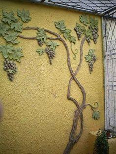 صورة Plaster Crafts, Plaster Art, Plaster Walls, Faux Painting, Stencil Painting, Wall Sculptures, Sculpture Art, Diy Wall, Wall Decor