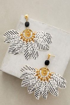 Zebra Flight Earrings - anthropologie.com