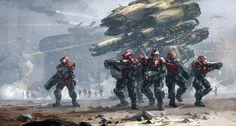 battle concept, J.C Park on ArtStation at https://www.artstation.com/artwork/battle-concept-26e544a8-071d-4b9f-8cdf-cd928f1c5882