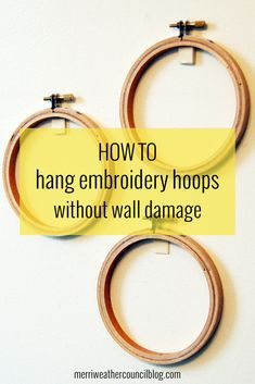 Hanging Hoops Without Wall Damage | the merriweather council blog