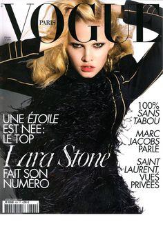PARIS VOGUE - FEBRUARY 2009 COVER MODEL - LARA STONE