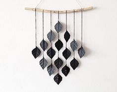 I love Green Laundry's #etsy shop so. Beautiful wall hangings at a really reasonable price. This is one example, but it was difficult to choose - go see! #decor #etsy #handmade #gifts #modern #minimal #greenlaundry #black #rustic #leaves