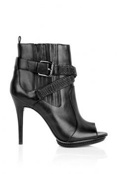 Larson Peeptoe Metal Mesh Strap Ankle Boot by MICHAEL KORS