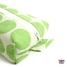 Box Pouch  Big Dots Apple Green by SugarCane on Etsy, £15.00
