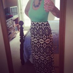 Maxi dress from Fancy Pants Boutique (on Facebook). Love it!