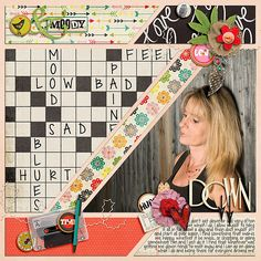 Digital Scrapbook Page Layout by IntenseMagic using Upside of Down Kit and matching Journal Set from Etc by Danyale at The Lilypad #etcbydanyale #thelilypad #digitalscrapbooking #memorykeeping