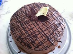 """Best Chocolate Cake"" with Milk Chocolate Buttercream Icing"