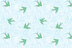 Take Flight, in Summer Skies fabric by sparrowsong on Spoonflower - custom fabric