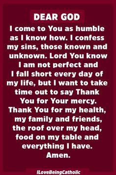 Powerful Prayer to God for Forgiveness Prayer Scriptures, Bible Prayers, Faith Prayer, Catholic Prayers, God Prayer, Power Of Prayer, Faith In God, Salvation Prayer, Night Prayer