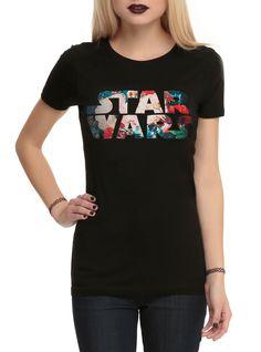 Star Wars Floral Logo Girls T-Shirt