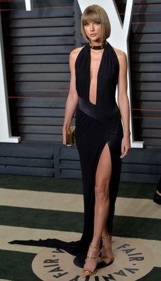 Taylor Swift.. Alexandre Vauthier Haute Couture Spring 2013 dress, Lorraine Schwartz jewels, Jimmy Choo box clutch, and Giuseppe Zanotti Harmony Gold sandals,