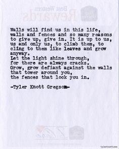 Typewriter Series #572by Tyler Knott Gregson