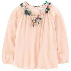Богемная блузка Mini Me из шелка
