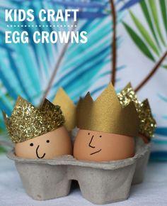 Royal Egg Craft for kids: egg crowns