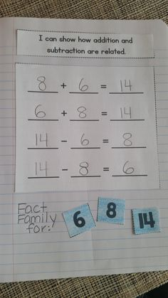 Interactive Math Notebook for 1st grade!  Unit 2: Addition and Subtraction