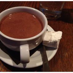 The dark hot chocolate @mindysegal that was ridiculously rich. #foodie