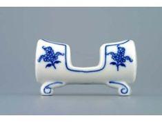 Dóza na párátka 8 cm, cibulák, Český porcelán Butter Dish, Blue And White