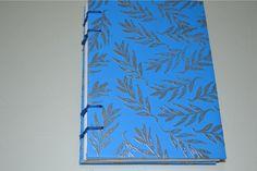 Bloco de anotações com costura copta - encadernação artesanal- SCRAPILI