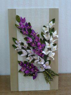 Koza Paper Flower Patterns, Paper Flowers Diy, Felt Flowers, Fabric Flowers, Ribbon Crafts, Felt Crafts, Paper Crafts, Silk Ribbon Embroidery, Embroidery Kits