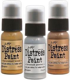 *Tim Holtz Distress Paint METALLIC SHADES SET OF 3 Ranger TIMMSS3